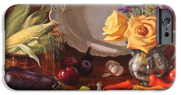 Smithsonian Paintings iPhone Cases - Bountiful iPhone Case by Brenda Sumpter