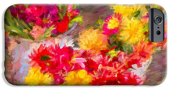 Botanical Photographs iPhone Cases - Bounty of Spring 3 - Painting iPhone Case by F Leblanc