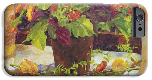 """indoor"" Still Life Paintings iPhone Cases - Bouquet iPhone Case by Anke Classen"
