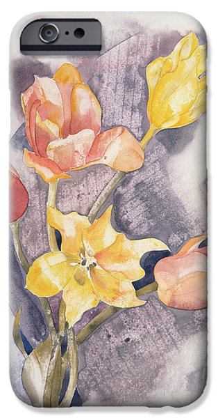 Floral Photographs iPhone Cases - Bouquet, C.1923 Wc On Paper iPhone Case by Charles Demuth