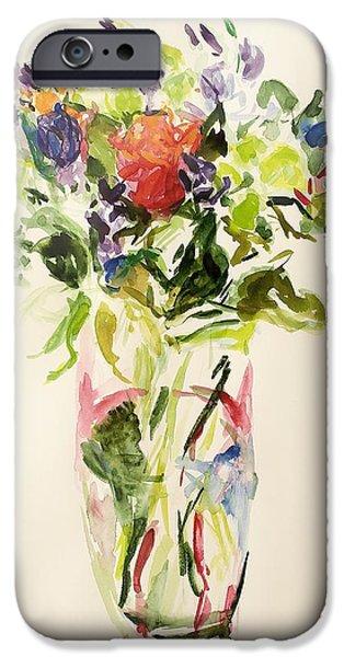 Vivid Colour Paintings iPhone Cases - Bouquet  iPhone Case by Julie Held
