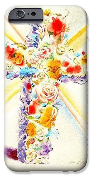 John Stewart iPhone Cases - Bouquet of Blessings iPhone Case by John Norman Stewart