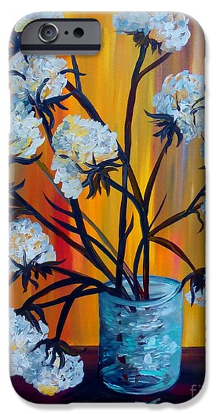 Recently Sold -  - Agricultural iPhone Cases - Bouquet of Cotton iPhone Case by Eloise Schneider