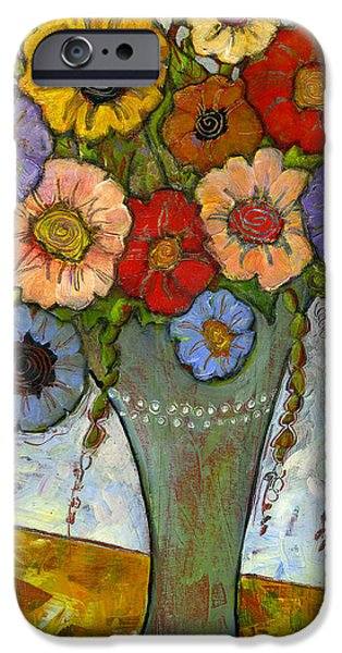 Artsy iPhone Cases - Bouquet of Flowers iPhone Case by Blenda Studio