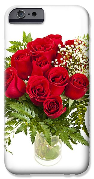 Bouquet of red roses iPhone Case by Elena Elisseeva