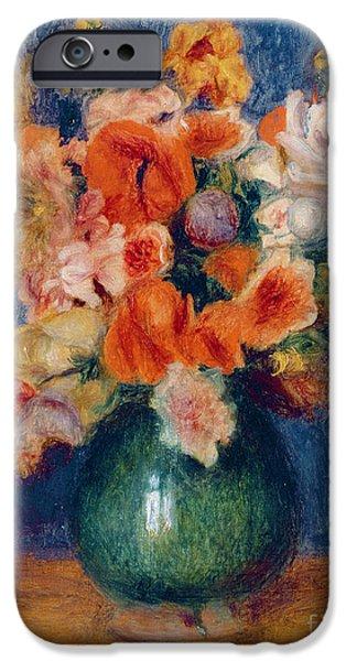 Pierre Auguste Renoir iPhone Cases - Bouquet iPhone Case by Pierre Auguste Renoir