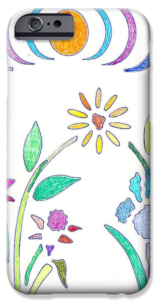Flora Drawings iPhone Cases - Bouquet iPhone Case by Sara LaMothe
