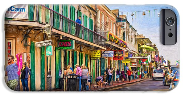 New Attitudes iPhone Cases - Bourbon Street Afternoon - Paint iPhone Case by Steve Harrington