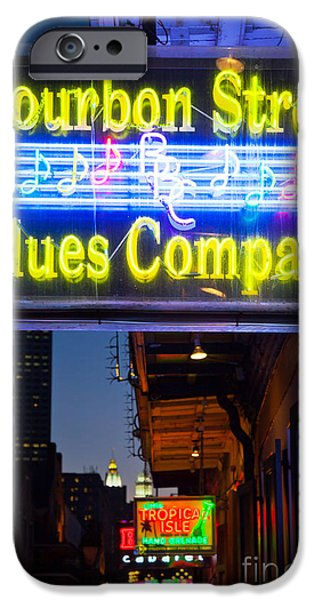 Balcony iPhone Cases - Bourbon Street Blues Company iPhone Case by Inge Johnsson