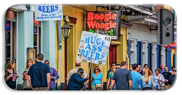 New Attitudes iPhone Cases - Bourbon Street - Let the Good Times Roll iPhone Case by Steve Harrington