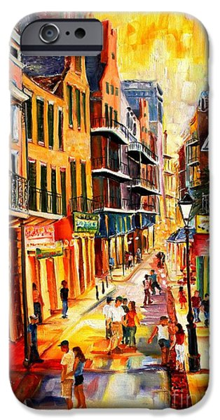 Big Easy iPhone Cases - Bourbon Street Mood iPhone Case by Diane Millsap