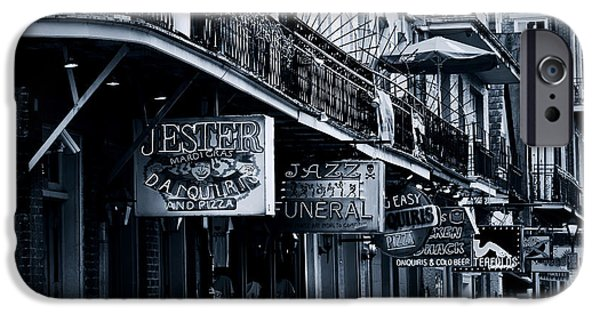 Balcony iPhone Cases - Bourbon Street New Orleans iPhone Case by Christine Till