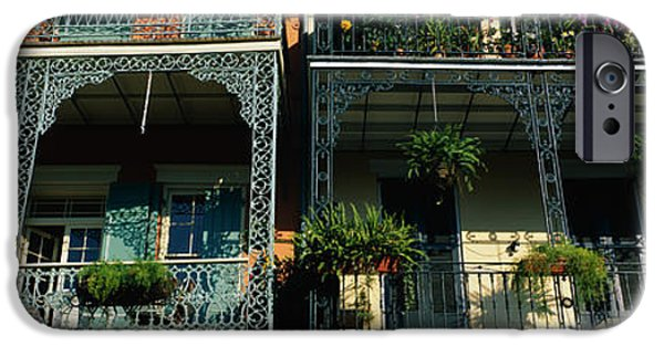 Balcony iPhone Cases - Bourbon Street New Orleans La iPhone Case by Panoramic Images