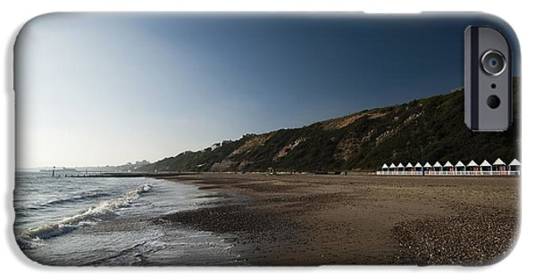 Incoming Tide iPhone Cases - Bournemouth Beach Huts iPhone Case by Anne Gilbert