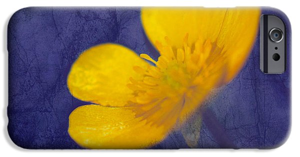 Texture Floral iPhone Cases - Bouton d Or - tb01c iPhone Case by Variance Collections