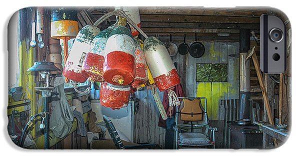 Lobster Bouys iPhone Cases - Bouy House iPhone Case by Scott Thorp