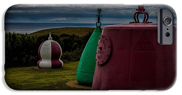 Bouys iPhone Cases - Bouys Lizard Lighthouse iPhone Case by Martin Newman