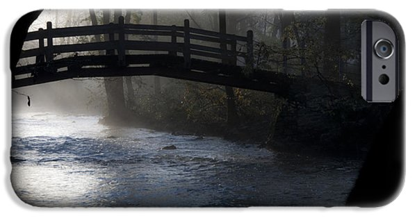 Bow Bridge iPhone Cases - Bow Bridge at Valley Forge iPhone Case by Bill Cannon