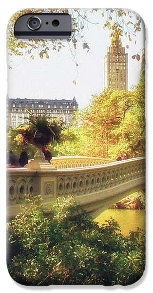 Bow Bridge - Autumn - Central Park iPhone Case by Vivienne Gucwa
