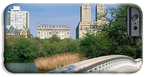 Bow Bridge iPhone Cases - Bow Bridge, Central Park, Nyc, New York iPhone Case by Panoramic Images