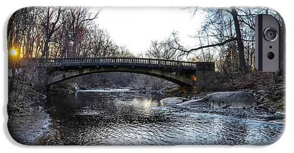 Bow Bridge iPhone Cases - Bow Bridge over Chester Creek iPhone Case by Bill Cannon