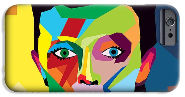 Abstract Digital Art iPhone Cases - Bowie iPhone Case by Mark Ashkenazi
