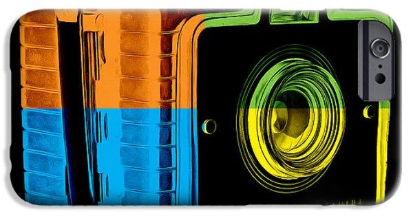 Box iPhone Cases - Box Camera Pop Art 2 iPhone Case by Edward Fielding