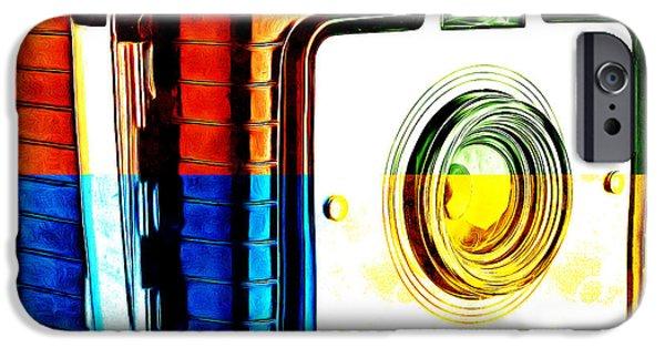 Box iPhone Cases - Box Camera Pop Art 3 iPhone Case by Edward Fielding