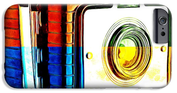 Boxes iPhone Cases - Box Camera Pop Art 3 iPhone Case by Edward Fielding