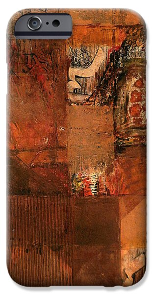 Mixed Media Pastels iPhone Cases - Box O Rocks iPhone Case by Buck Buchheister