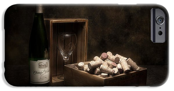 Wine Bottles iPhone Cases - Box of Wine Corks Still Life iPhone Case by Tom Mc Nemar