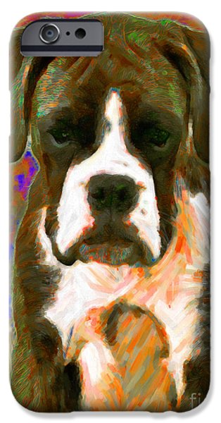 Boxer 20130126v1 iPhone Case by Wingsdomain Art and Photography