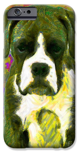Boxer 20130126v2 iPhone Case by Wingsdomain Art and Photography
