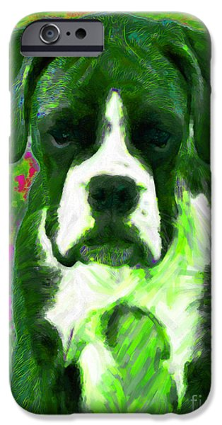Boxer 20130126v3 iPhone Case by Wingsdomain Art and Photography