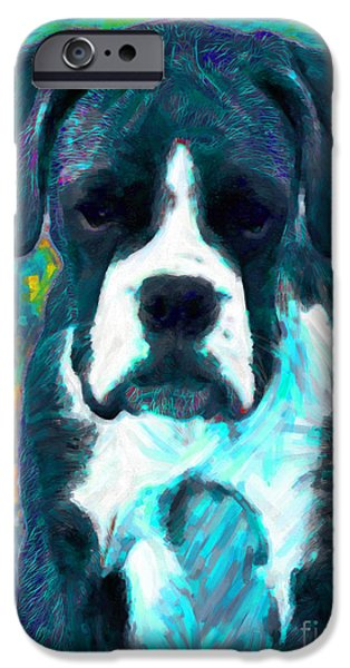 Boxer 20130126v4 iPhone Case by Wingsdomain Art and Photography