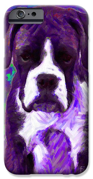 Boxer 20130126v6 iPhone Case by Wingsdomain Art and Photography