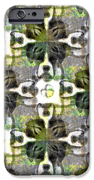 Boxer Abstract 20130126v1 iPhone Case by Wingsdomain Art and Photography
