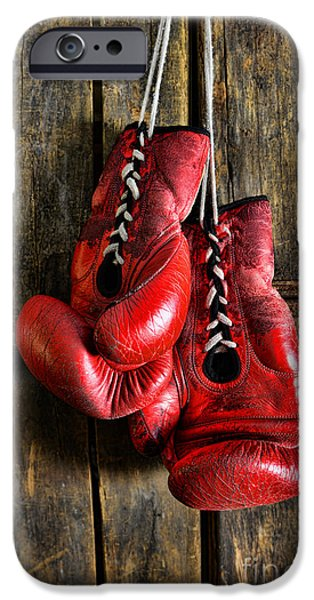 Punching iPhone Cases - Boxing Gloves - Now retired iPhone Case by Paul Ward