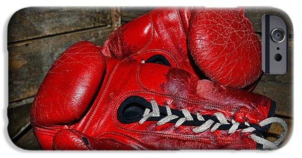 Boxer iPhone Cases - Boxing Gloves iPhone Case by Paul Ward