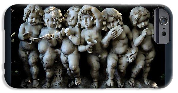 Statue Portrait iPhone Cases - Boy Band iPhone Case by Marcia Lee Jones