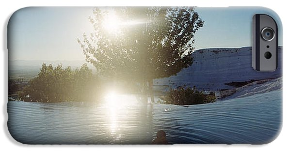 Bathing iPhone Cases - Boy Enjoying The Hot Springs iPhone Case by Panoramic Images