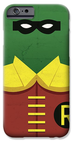 Comics iPhone Cases - Boy Wonder iPhone Case by Michael Myers