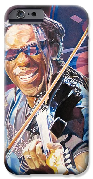 Player Drawings iPhone Cases - Boyd Tinsley and 2007 Lights iPhone Case by Joshua Morton