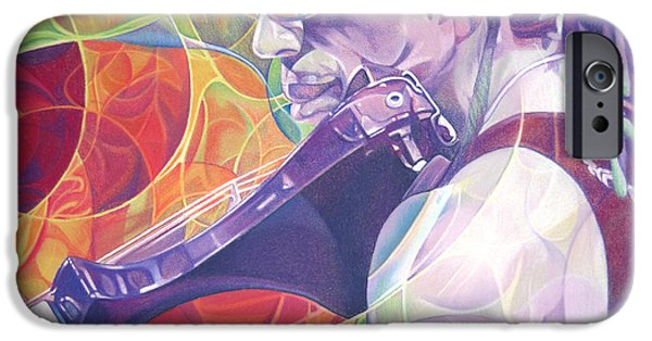 Dave iPhone Cases - Boyd Tinsley and Circles iPhone Case by Joshua Morton