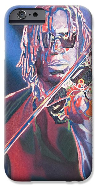 Dave Drawings iPhone Cases - Boyd Tinsley Colorful Full Band Series iPhone Case by Joshua Morton