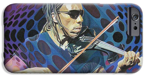 Player Drawings iPhone Cases - Boyd Tinsley Pop-Op Series iPhone Case by Joshua Morton