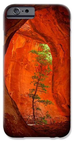 Warm Digital Art iPhone Cases - Boynton Canyon 04-343 iPhone Case by Scott McAllister
