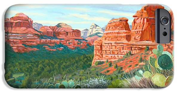 Sedona Paintings iPhone Cases - Boynton Canyon iPhone Case by Steve Simon