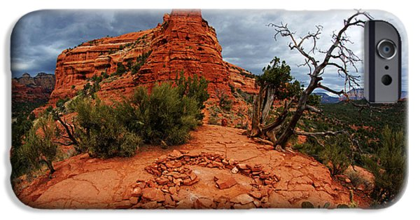 Recently Sold -  - Sedona iPhone Cases - Boynton Vortex Heart iPhone Case by Daniel Woodrum