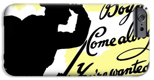 Wwi iPhone Cases - Boys Come Along Youre Wanted iPhone Case by War Is Hell Store